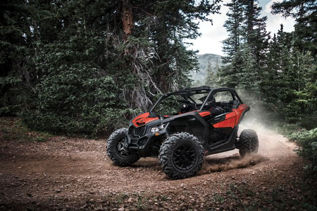 Maverick X3 NA - Can-Am Red - Trail Riding